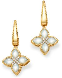 Roberto Coin 18k Yellow Gold Venetian Princess Diamond & Mother Of Pearl Earrings - Metallic