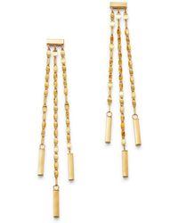 Moon & Meadow 14k Yellow Gold Link Drop Earrings - Metallic