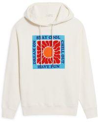 Sandro Philario Embroidered Hoodie - White