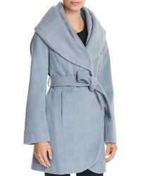 T Tahari - Marla Oversized Shawl Collar Coat - Lyst