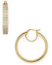 Nadri - Three-row Hoop Earrings - Lyst