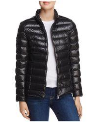 Aqua Packable Down Puffer Jacket - Black