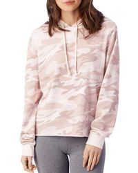 Alternative Apparel - Day Off Printed Burnout French Terry Hoodie - Lyst