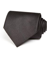 Bloomingdale's Basket Solid Wide Tie - Black