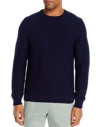 Bloomingdale's Cotton Textured Sweater - Blue