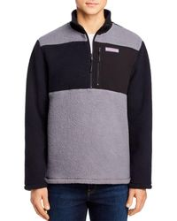 Vineyard Vines Block Stillwater Sherpa 1/2 Zip - Gray