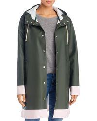 Stutterheim Mosebacke Colour - Block Raincoat - Green