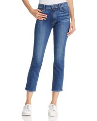 PAIGE Jacqueline Straight - Leg Jeans In Medium Blue