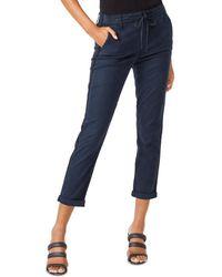 PAIGE Christy Denim Drawstring Trousers - Blue
