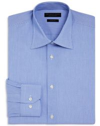 Bloomingdale's - Dobby Stripe Slim Fit Dress Shirt - Lyst