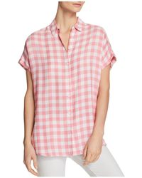 Beach Lunch Lounge - Check Button-down Blouse - Lyst