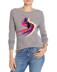 Aqua Cashmere Ski Sweater Cashmere Sweater - Gray