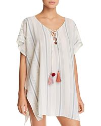 Surf Gypsy Striped Tunic Swim Cover - Up - White