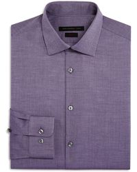 John Varvatos - Cross Twill Slim Fit Stretch Dress Shirt - Lyst