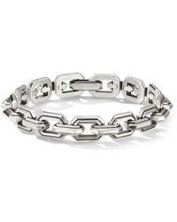 David Yurman Sterling Silver Deco Link Bracelet - Metallic