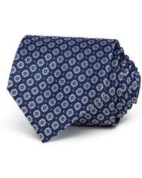 Bloomingdale's - Florette Medallion Neat Silk Classic Tie - Lyst