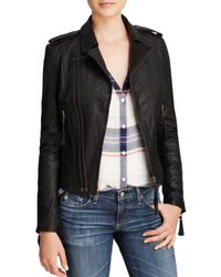 Joie Jacket - Ailey Leather Moto - Black