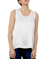 Go> By Go Silk Raw - Edge Tank - White
