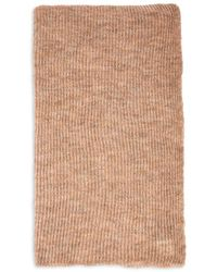 Echo Recycled Featherweight Ribbed Knit Wrap - Natural