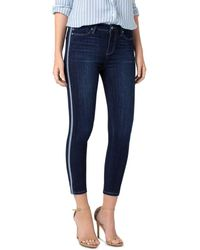 Liverpool Jeans Company - Abby Tuxedo Stripe Cropped Skinny Jeans In Freemont - Lyst