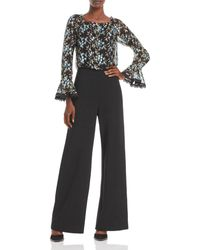Adrianna Papell Embroidered Jumpsuit - Blue