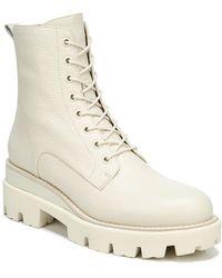 Sam Edelman Garret Combat Platform Boots - White
