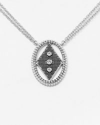Freida Rothman Circular Diamond Pendant Necklace - Metallic