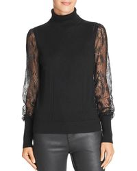 Equipment - Sid Lace-sleeve Turtleneck Top - Lyst