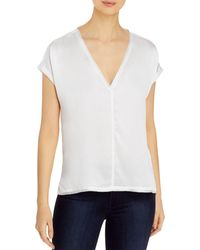Go> By Go Silk Raw - Edged Silk Tee - White