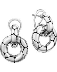 "John Hardy ""kali"" Door Knocker Earrings - Metallic"