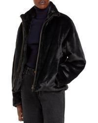 Vince - Plush Faux Fur Jacket - Lyst