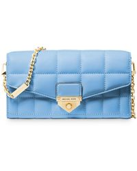 MICHAEL Michael Kors - Large Quilted Chain Wallet - Lyst