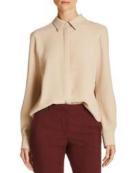 Theory - Sunaya Crepe Shirt - Lyst