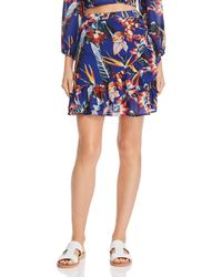 Red Carter - Floral Print Ruffle Skirt - Lyst