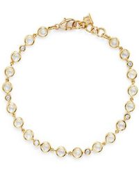 Temple St. Clair - 18k Gold Small Bracelet With Royal Blue Moonstone And Diamonds - Lyst