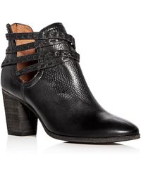 Frye - Women's Naomi Pickstitch Leather Strappy Booties - Lyst