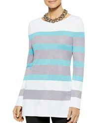 Misook Striped Tunic - Blue