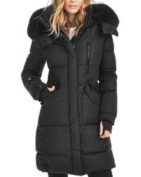 Sam. Highway Fur Trim Down Coat - Black