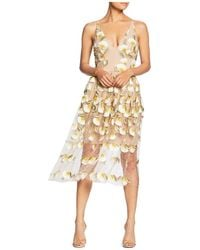 Dress the Population - Betsy Floral Illusion Dress - Lyst