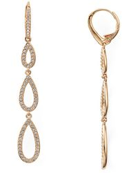 Nadri - Pavé Triple Loop Teardrop Earrings - Lyst