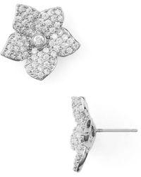 Kate Spade - Pave Bloom Stud Earrings - Lyst