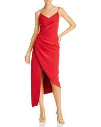 Keepsake Finale Midi Dress - Red