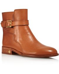 fd136acb59ce Tory Burch - Women s Brooke Leather Ankle Booties - Lyst
