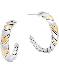 John Hardy - Legends Naga 18k Gold & Silver Small Hoop Earrings - Lyst