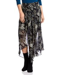 Bailey 44 Josephine Asymmetric Midi Skirt - Black