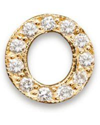Zoe Chicco - 14k Yellow Gold Pavé Single Initial Stud Earring - Lyst