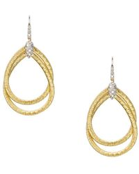 Marco Bicego - 18k Yellow Gold Cairo Drop Earrings With Diamonds - Lyst