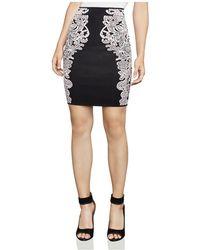 BCBGMAXAZRIA - Natalee Floral Jacquard Pencil Skirt - Lyst