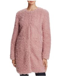 Via Spiga - Reversible Lightweight Faux Fur Coat - Lyst