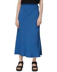 Whistles Animal Fleck Print Skirt - Blue